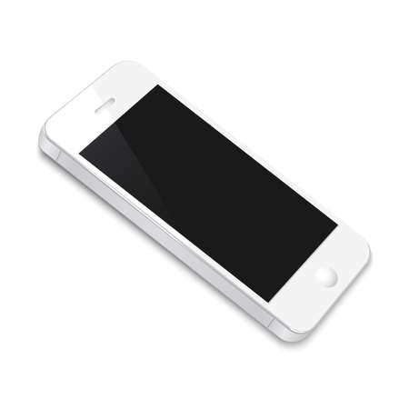 White Smartphone isolated on white background. Vector