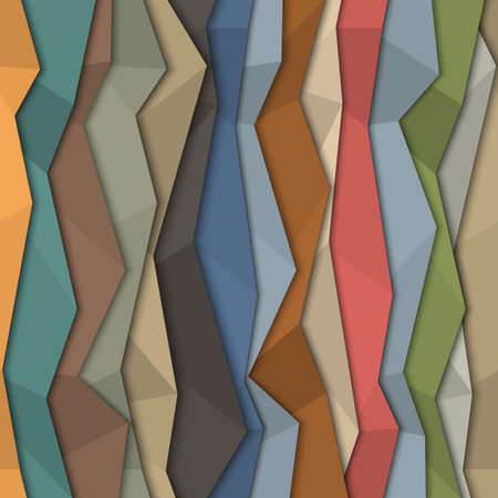 3d colorful paper background - origami style  Vector