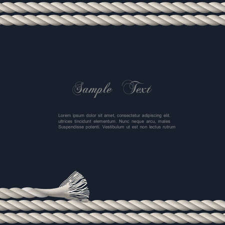 Background with marine rope   Stock Vector - 18385315