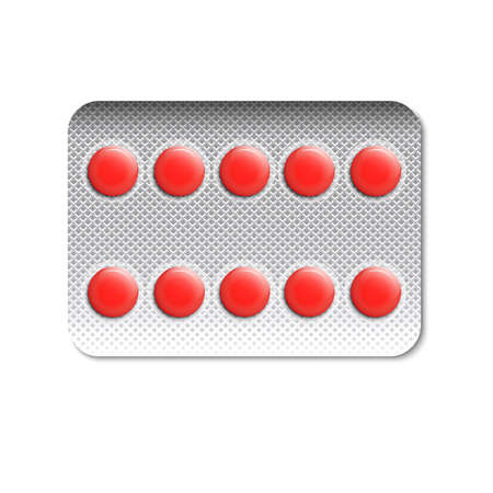 blister: Round pills in a blister pack