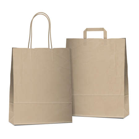 Two empty shopping brown bags  Stock Vector - 18385313