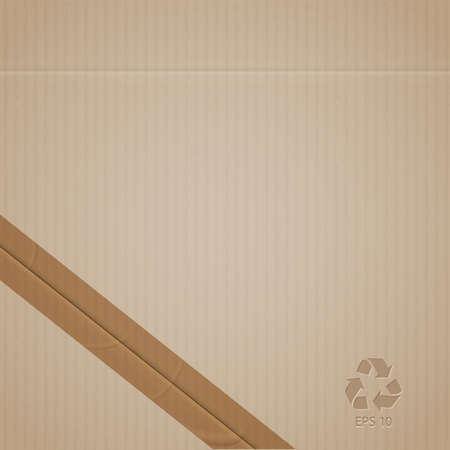 Cardboard. Vector EPS10
