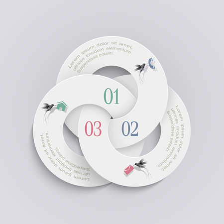 Elegant round design template for infographics and website templates or design graphic for business. Vector EPS10