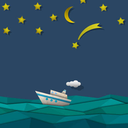 cruise liner: Paper cruise liner  Creative vector eps 10