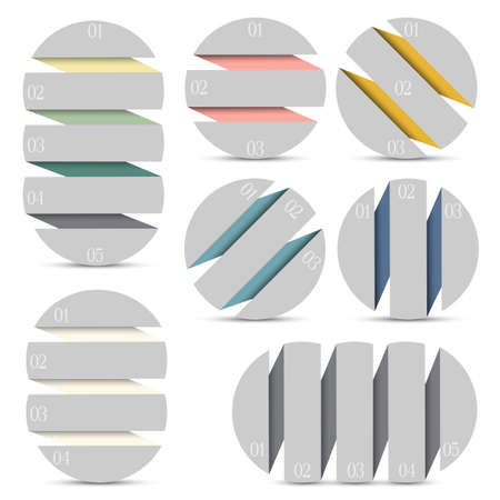 Set of round infographics options banners  Vector EPS10 Vector