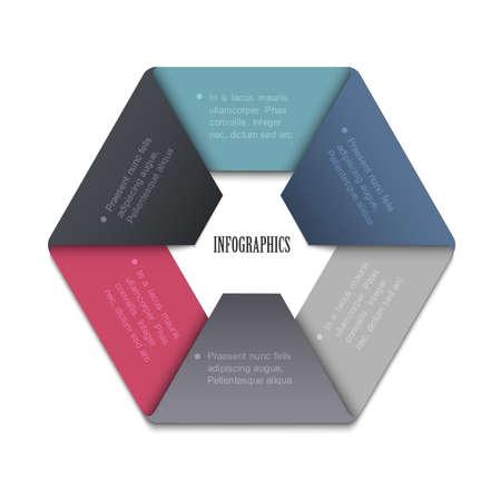 Trendy Design template for website templates, infographics and graphic business design  Vector EPS10  Ilustração