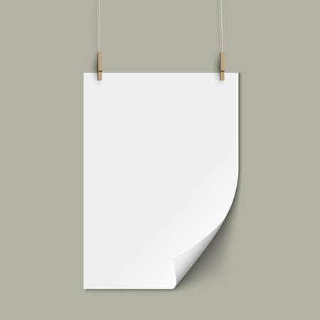 Vector empty paper sheet