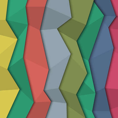 3d colored paper background - origami style. Vector