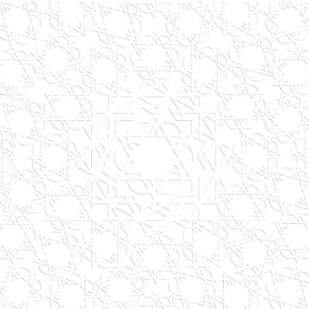 arabisch patroon: 3d witte Arabisch patroon.