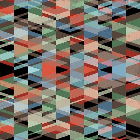 Retro grunge geometric background  Vector