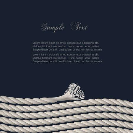 fastening:  Stylish background with marine rope   Illustration