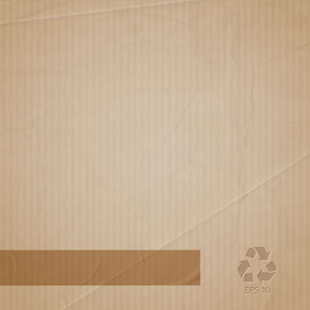 background of cardboard Vector