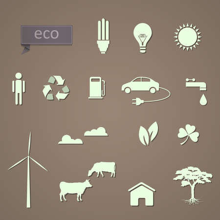set of eco-icons  Vector