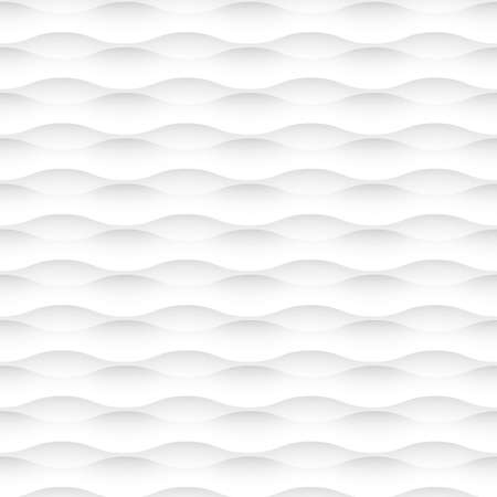 white background of abstract waves  Seamless pattern Ilustração