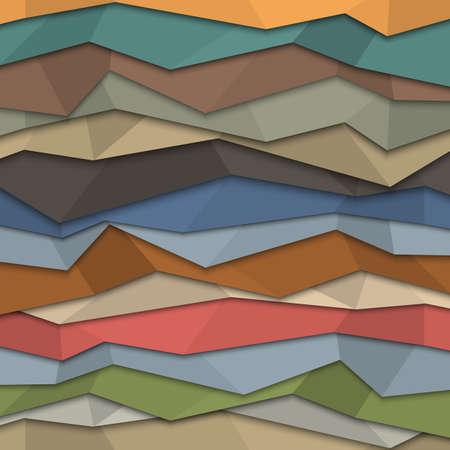 3d colored paper background - origami style.  Ilustração