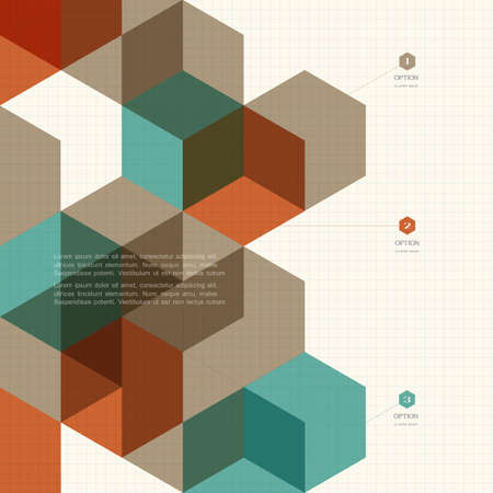 Abstract cubes background for design.