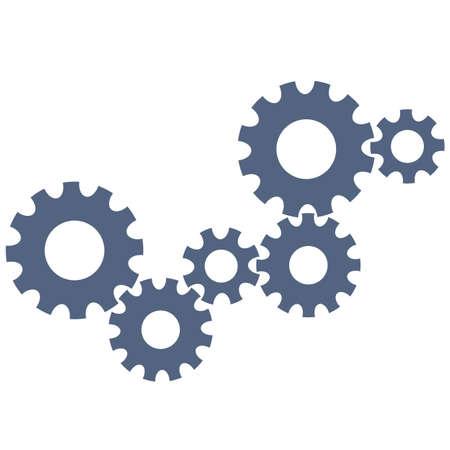 cogwheels: Abstract gear wheels.  design template