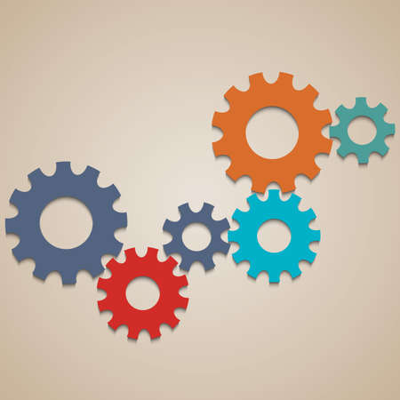 Colored abstract gear wheels.  design template  Vector