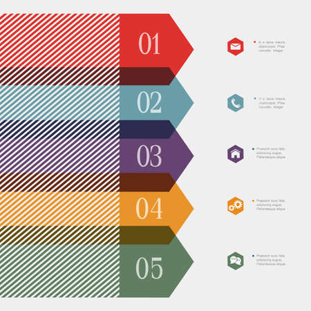websit: Creative banner-arrow design for infographics,websit e templates or design graphic for business.  Illustration