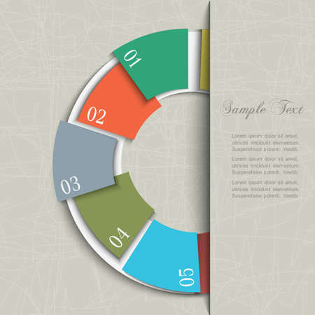 circle design: Half circle design template for infographics and website templates.  Illustration