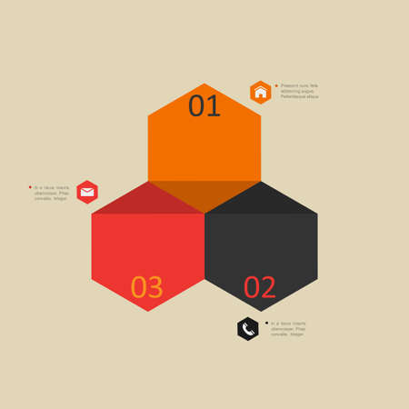 Modern design template for infographics, website templates and graphic business design. Vector