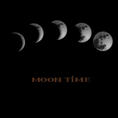Mondphasen. Vektorgrafik