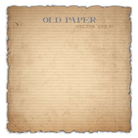 square sheet: Sheet of old cardboard  Illustration