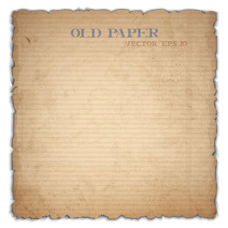 cartone strappato: Vecchio foglio di cartone Vettoriali