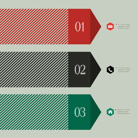 Trendy banner-arrow design for infographics,websit e templates or design graphic for business  Vector