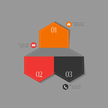 Trendy design template for infographics, website templates and graphic business design   Vector