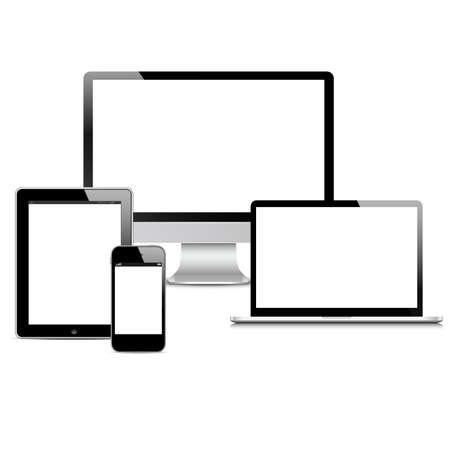set of Modern Digital devices Vector