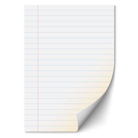 Blank paper sheet with lines.