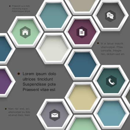 New design hexagons background for website . Ilustração