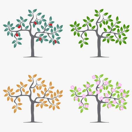 pommier arbre: Arbres saisonniers.
