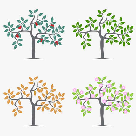 Seasonal trees.  Vector