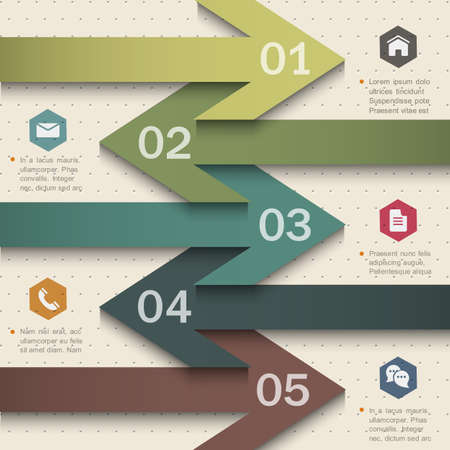 Trendy banner-arrow design for infographics,websit e templates or design graphic for business.  Vector