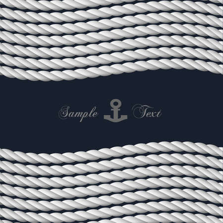 background with nautical rope Vector