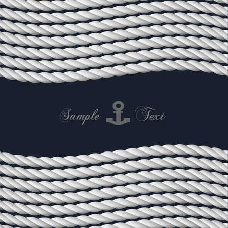 marinha: fundo com corda n�utica