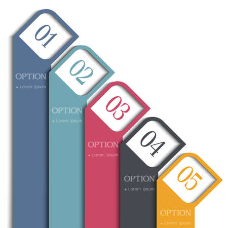 Vertical 3d banners design for infographics,website templates or design graphic for business. Stock Vector - 19578865