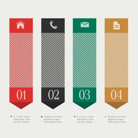 vertical dividers: Vertical design template infographics and websites or design graphic for business.  Illustration