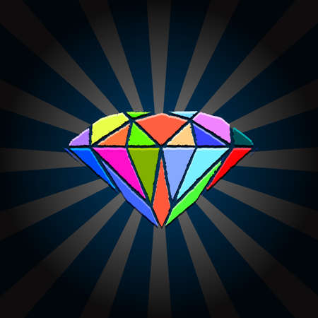 karat: Creative Diamond. illustration
