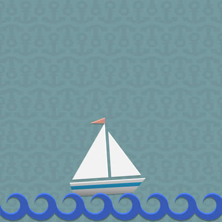 Sailing boat illustration Vector