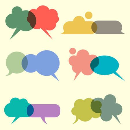 Various bubbles for speech  set Vector