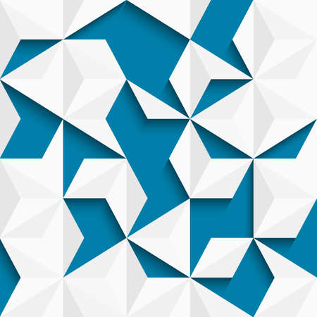 geometry: Abstract background of paper triangles. Vector