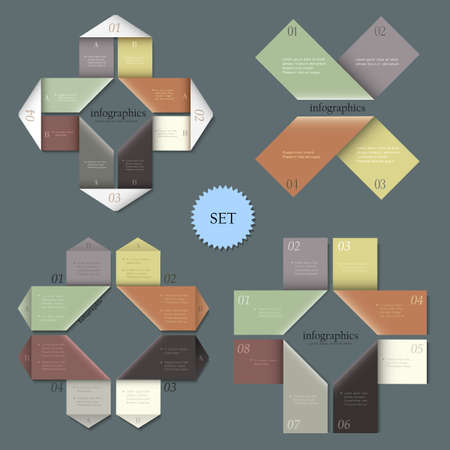 Design templates for infographics. Vector set 1 Stock Vector - 20175573