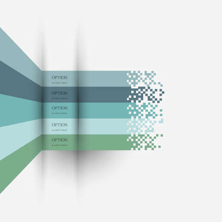 pages template: Infographics design - variation 3. Vector