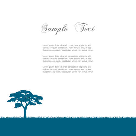 africa tree: Silhouette of tree  Vector illustration Illustration