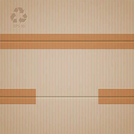 Vector background of cardboard  Illustration