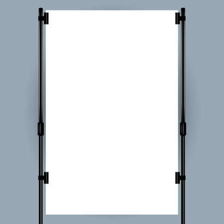 exhibition stand: Blank banner display.  Illustration