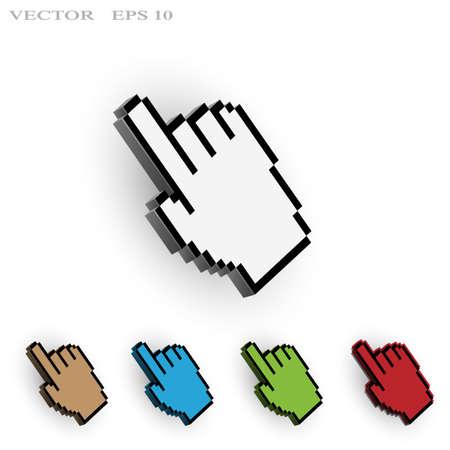 Hand cursor. Vector set Stock Vector - 20363085